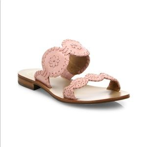 NEW • Jack Rogers • Lauren Sandals Blush Pink 5